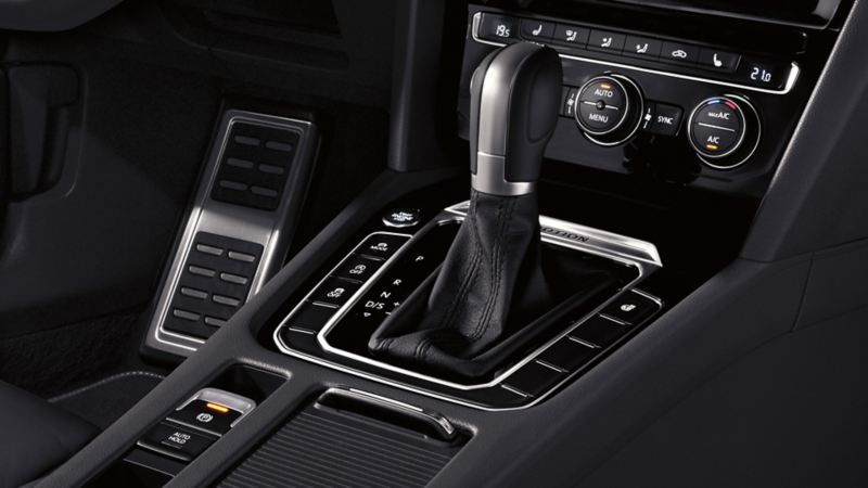 Interior view of a VW Arteon, centre console detail