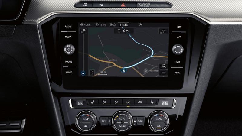 Visualizzazione di Discover Media di VW Arteon