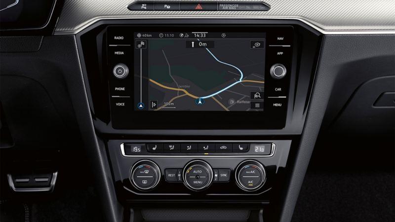 Darstellung von Discover Media im VW Arteon
