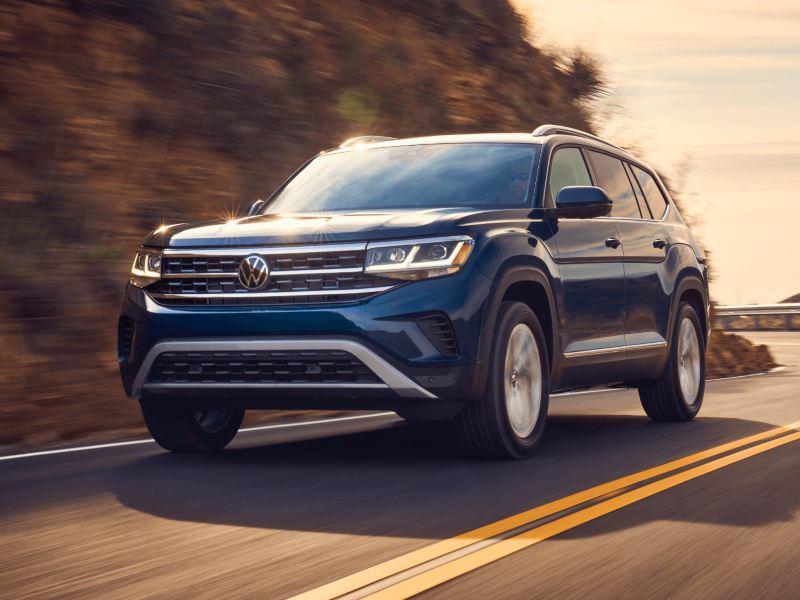 2021 VW Atlas on the road
