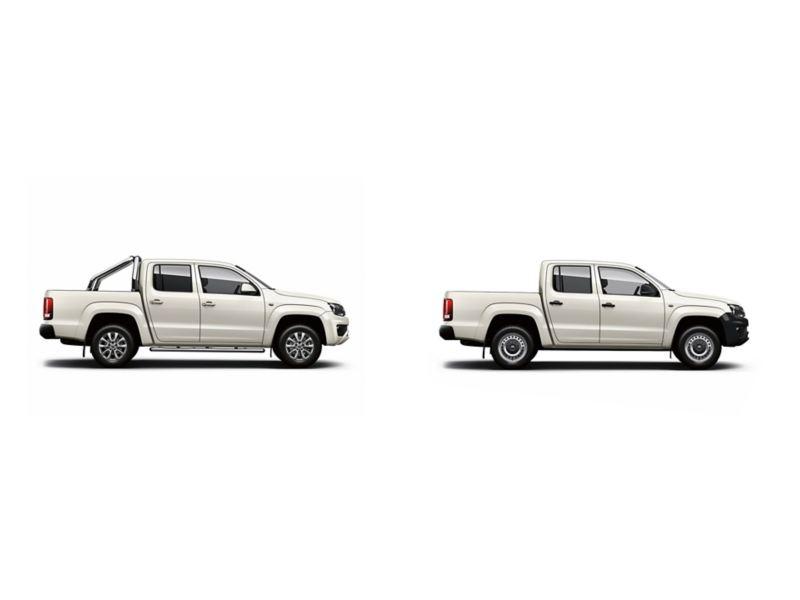 2 versões da pick up Amarok.