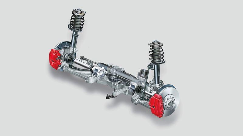 Immagine di un ammortizzatore MacPherson Volkswagen
