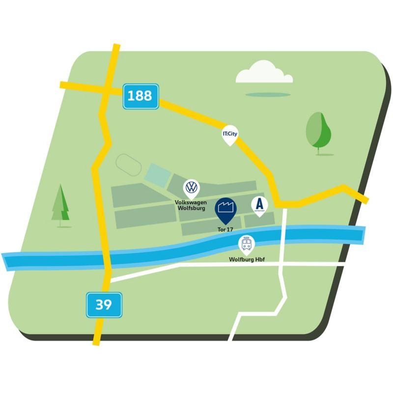 Karte Wolfsburg
