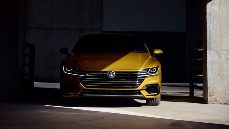2019 Volkswagen Arteon in a garage