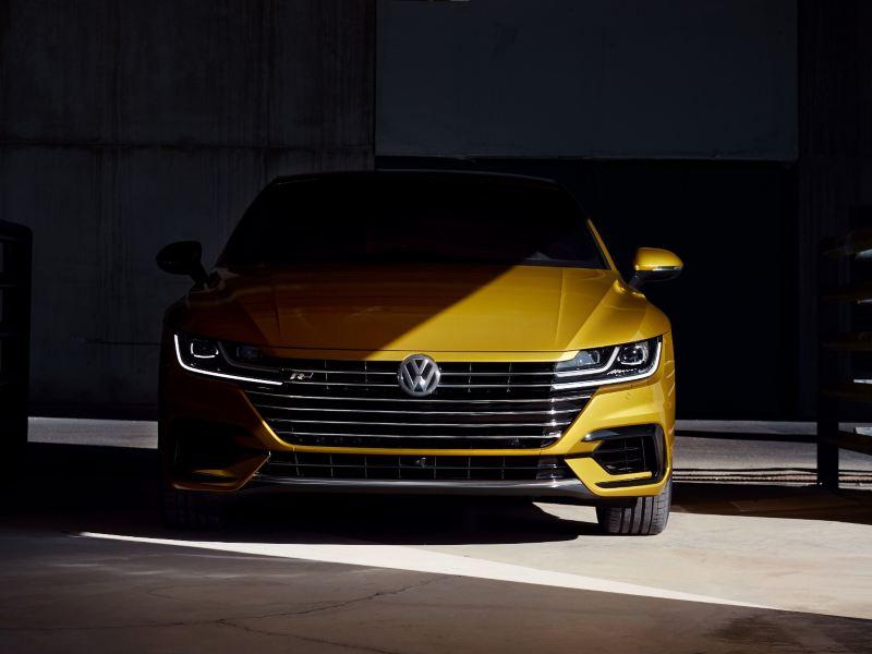 2019 Volkswagen Arteon in a garage