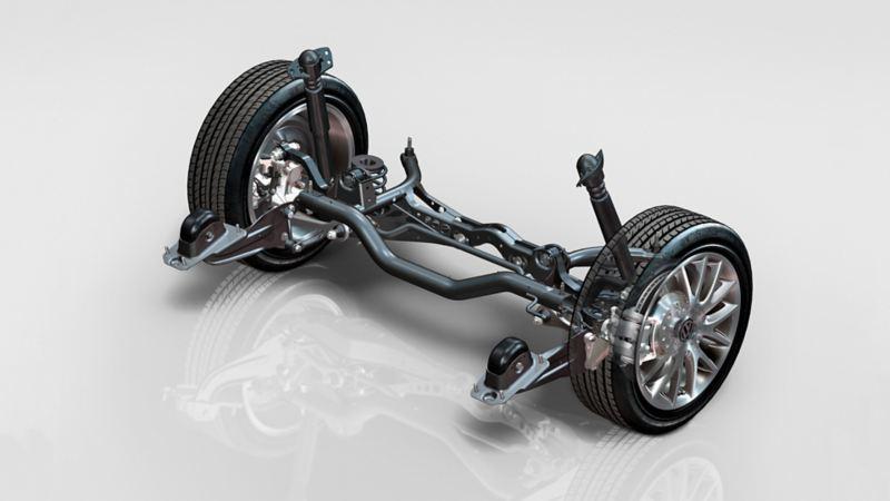 Immagine dell'asse a bracci obliqui di una Volkswagen