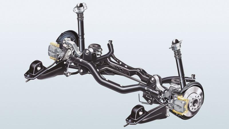Immagine di un asse posteriore con sospensioni multilink Volkswagen