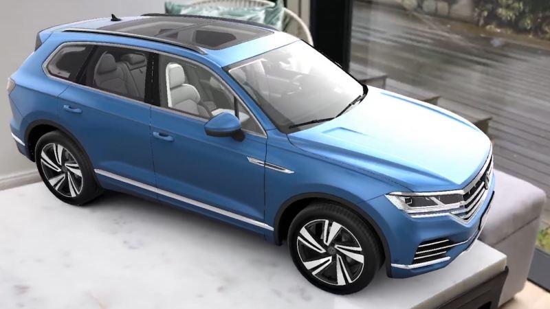 Volkswagen Touareg messa in scena con una App AR appositamente sviluppata