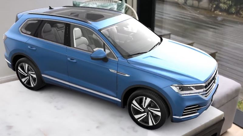 Configuring the Touareg in the virtual showroom