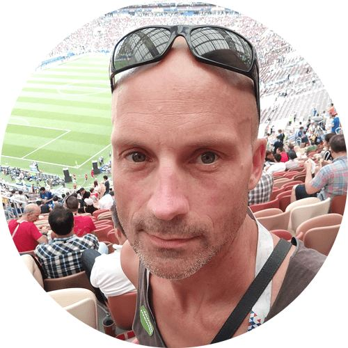 Das ist Bas Timmers im WM Stadion in Moskau