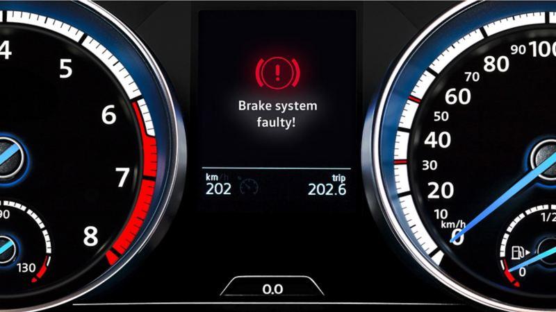 Brake system faulty