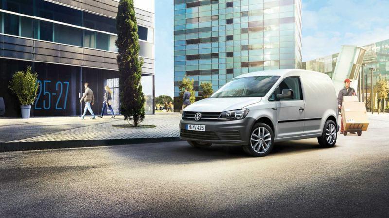 vw Volkswagen Caddy varebil byggeplass entreprenører liten kompakt 3 seter