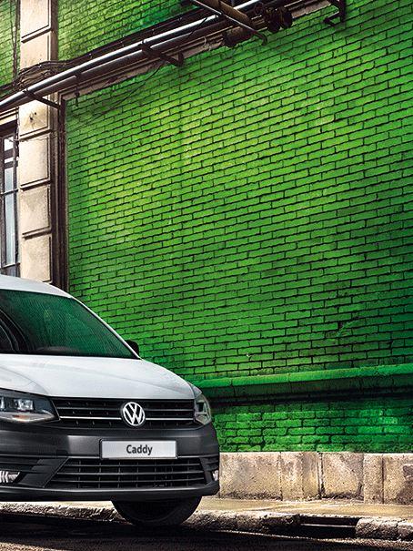 vw Volkswagen hvit Caddy maxi varebil budbil budmann bysenter LED lys