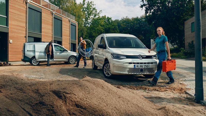 nouveau Caddy Cargo blanc et gris chantier artisans ouvriers