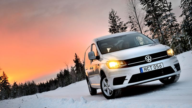 Nya Caddy Maxi 4MOTION i vinterlandskap