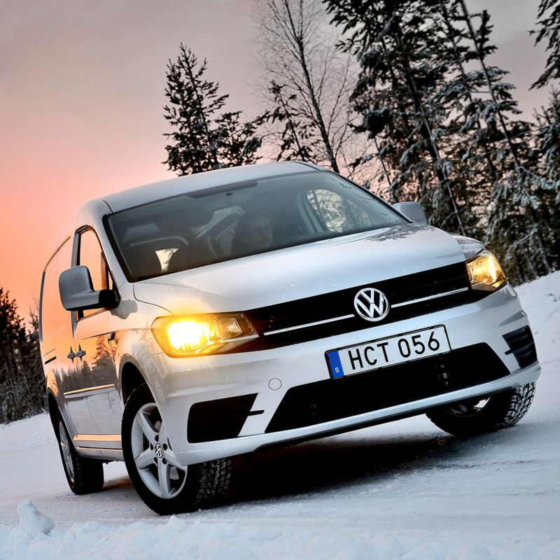 Nya Caddy Maxi 4MOTION i vinterlandskap