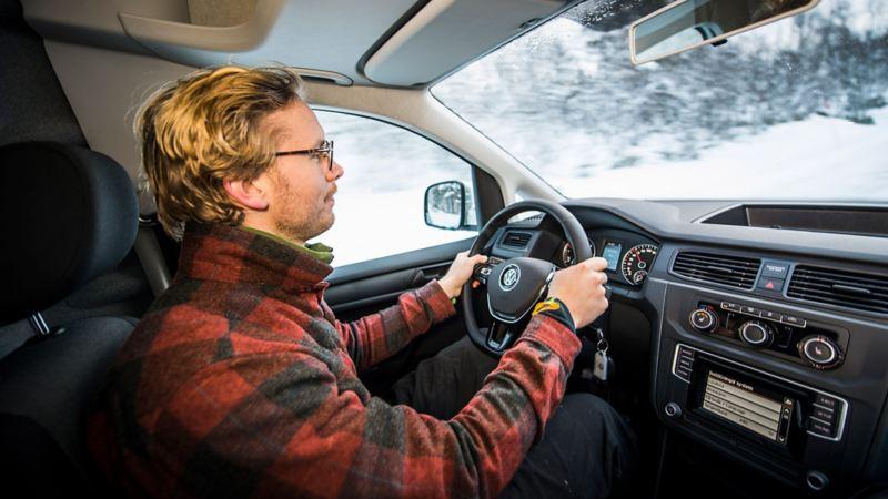 Erik Gustafsson provkör Volkswagen Caddy Maxi TDI