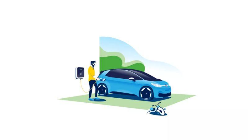 Cargar vehículo eléctrico en casa