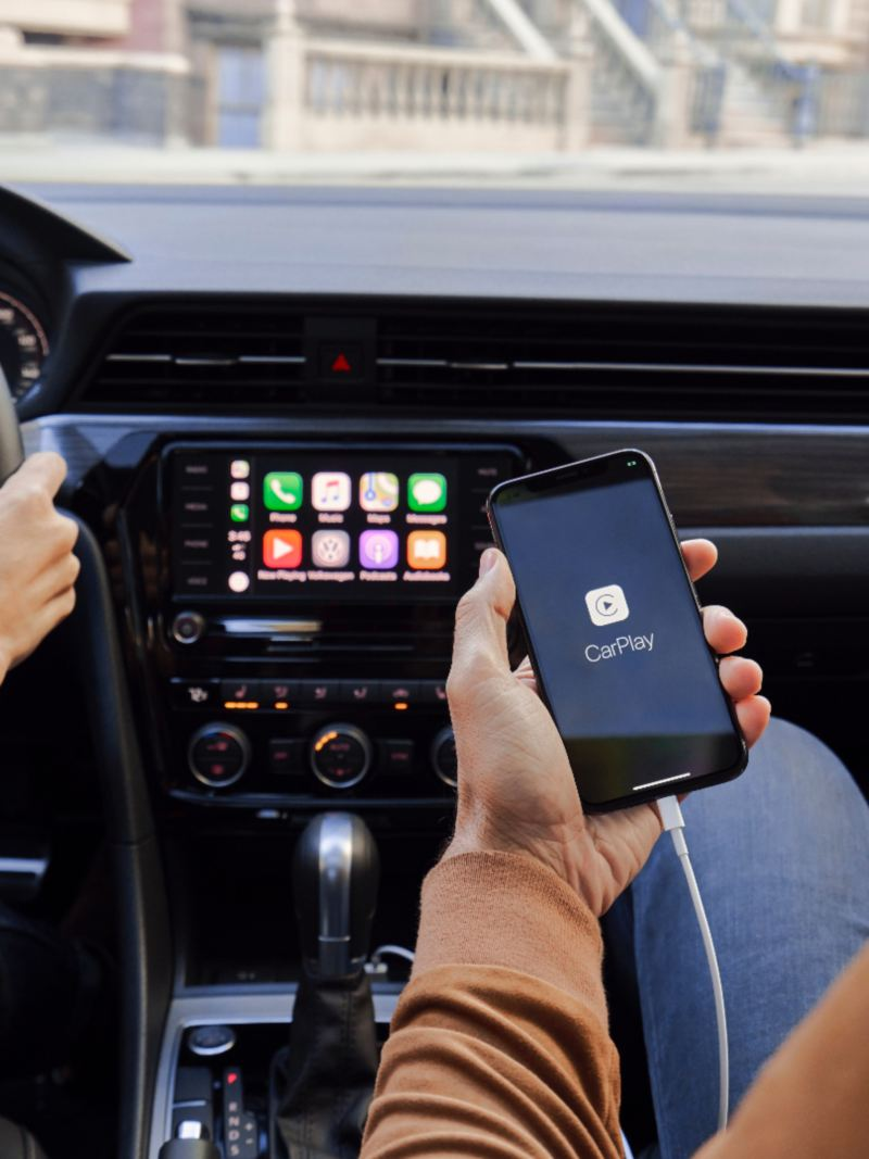 A smartphone shown in the Jetta