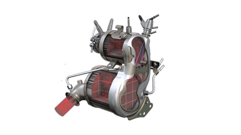 Immagine di un catalizzatore Volkswagen