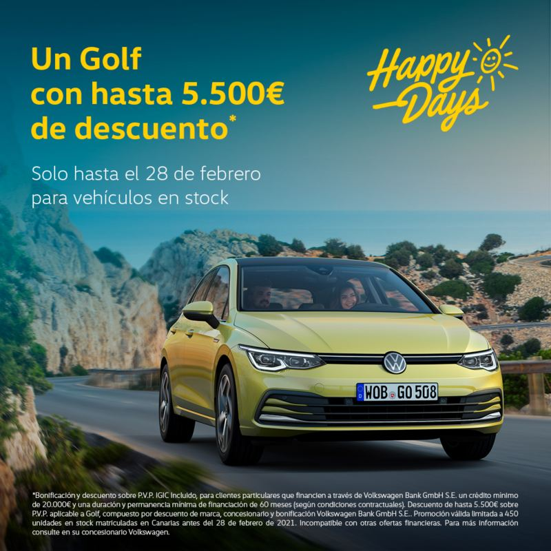 Golf happy days de volkswagen canarias