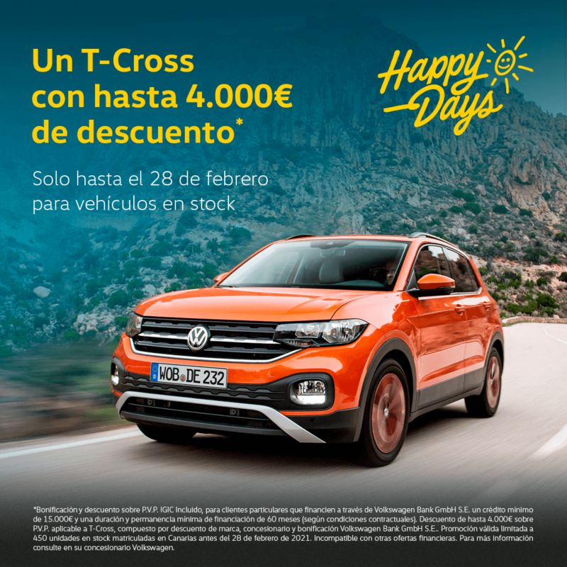 T Cross happy days volkswagen canarias