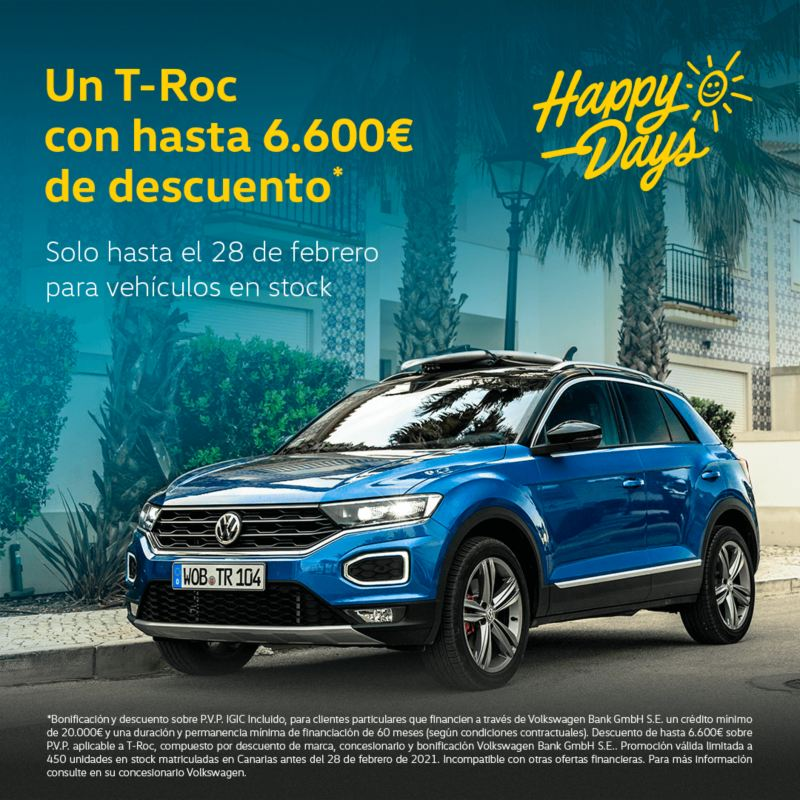 T Roc Happy Days Volkswagen Canarias