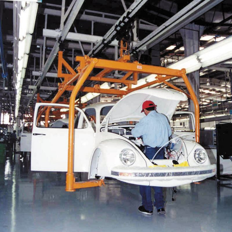 catena montaggio fabbrica Maggiolino volkswagen