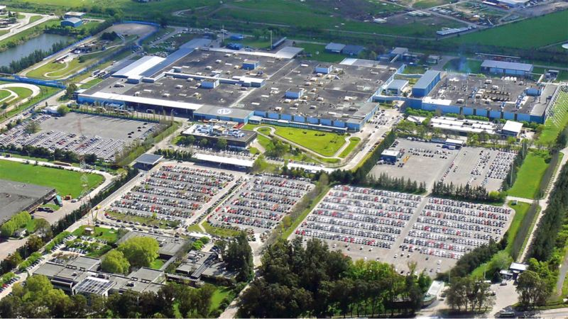 Top view on the Volkswagen site of Argentina