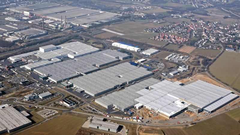 Panorama des Volkswagen Werks Kassel