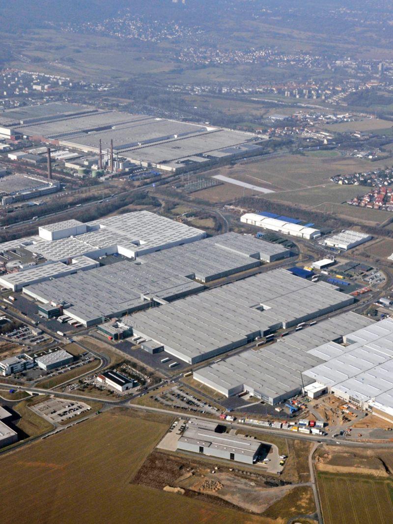 Panorama of Volkswagen's Kassel site