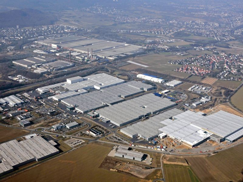 Panorama of Volkswagen's Kassel site