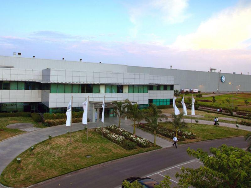 Firmengebäude des Volkswagen Standortes in Pune, Indien