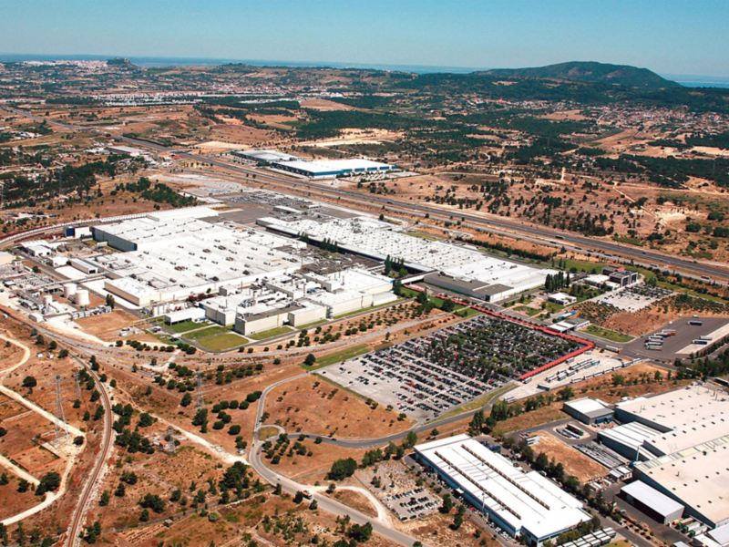 Panorama des Volkswagen Standortes in Palmela, Portugal