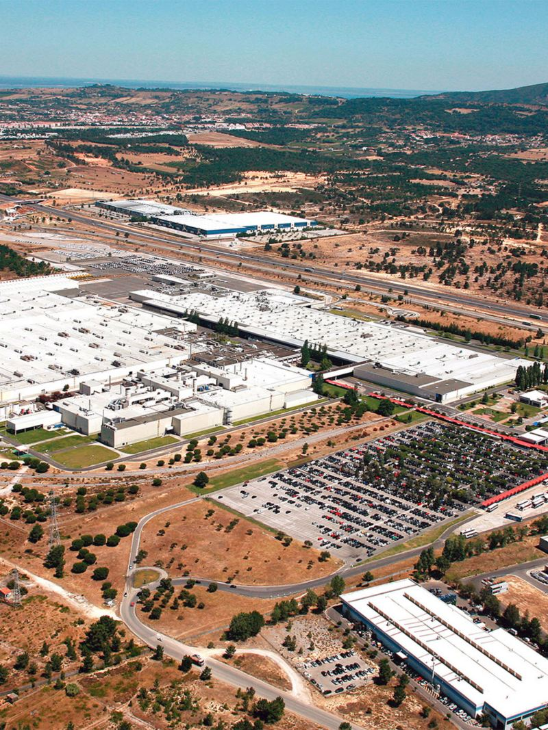 Panorama of the Volkswagen site in Palmela, Portugal