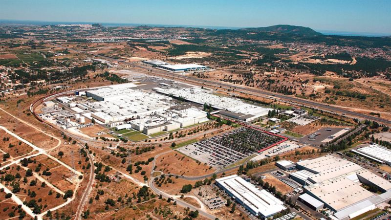 Top view on the Volkswagen site of Portugal