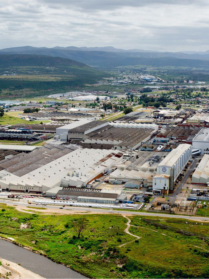Panorama of the Volkswagen site in South Africa