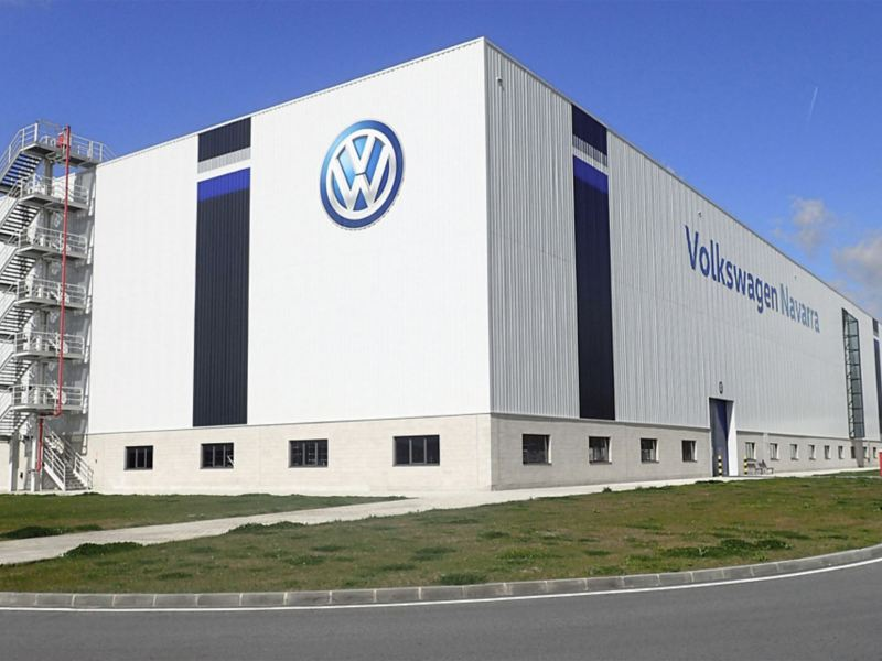 Company building at the Volkswagen site in Pamplona, Spain