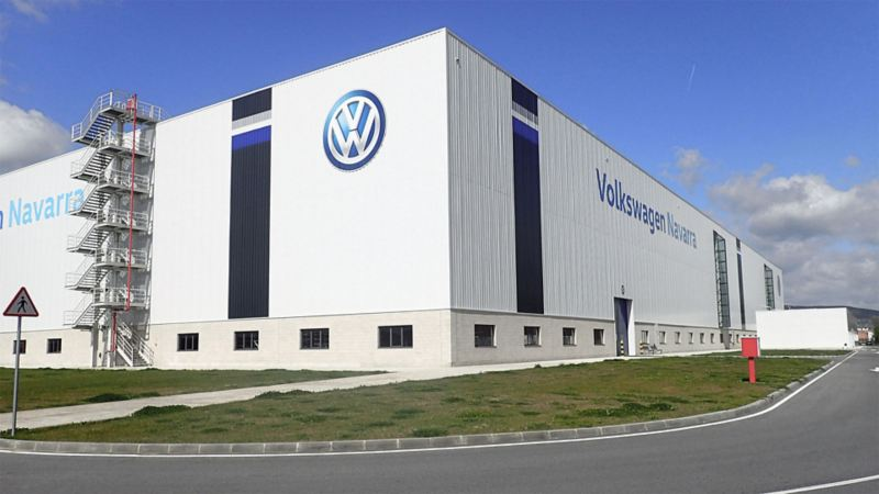 View on the Volkswagen site of Spain
