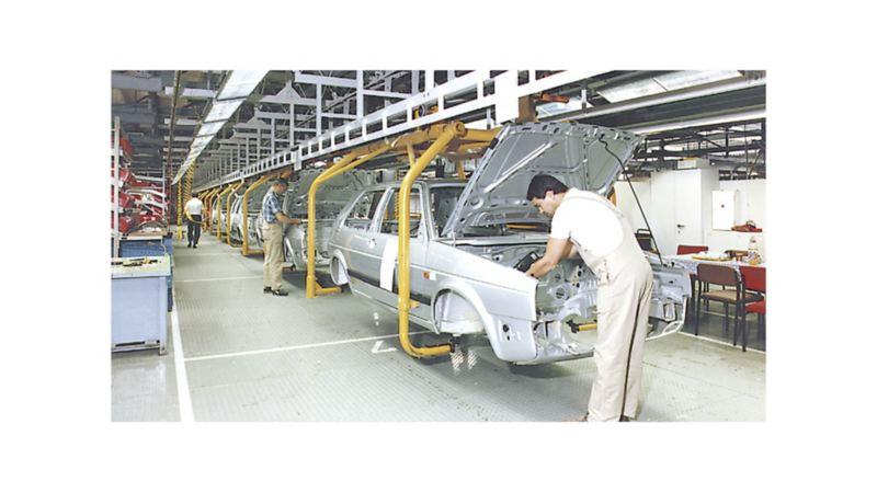 Styczeń 1991 r.: przygotowanie technicznych warunków montażowych do seryjnej produkcji Golfa