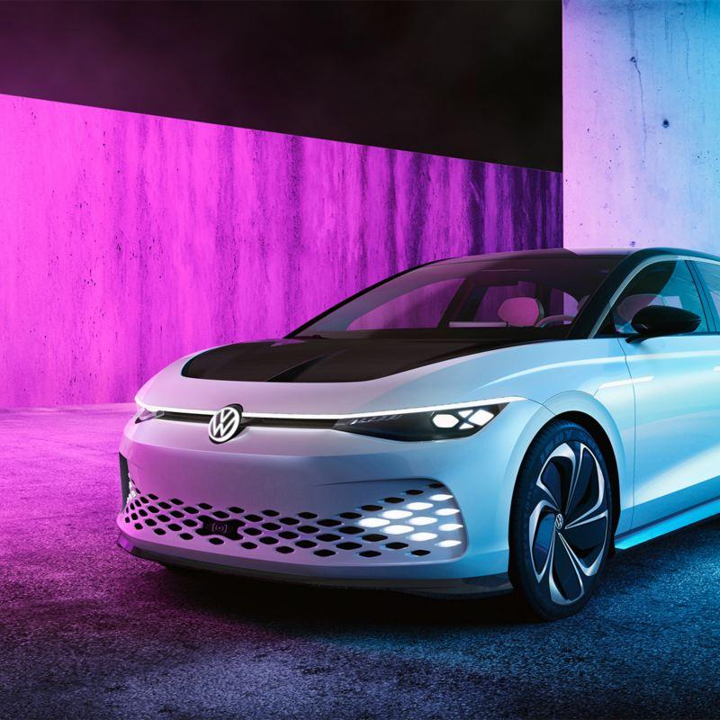 fronten på Volkswagen ID. SPACE VIZZION