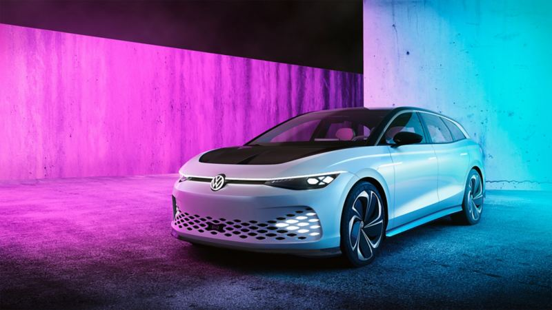O Volkswagen ID. SPACE VIZZION visto de frente