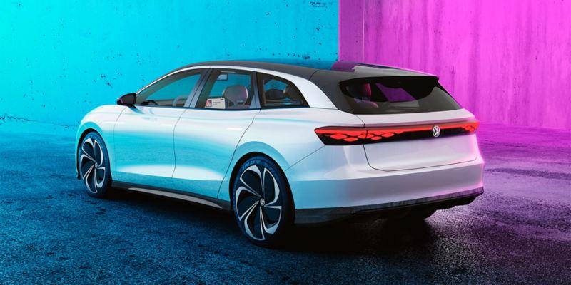 Le concept-car Volkswagen ID. SPACE VIZZION vue de derrière