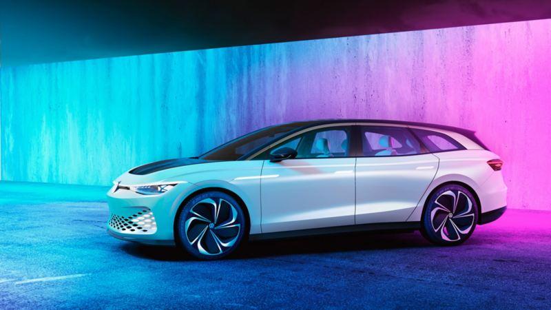 Volkswagen ID. SPACE VIZZION elbil-konsept i et studio