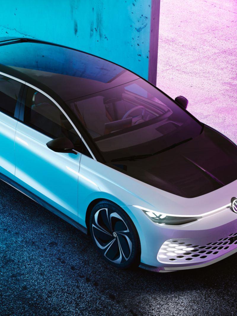 Volkswagen ID. SPACE VIZZION elbil-konsept sett ovenfra
