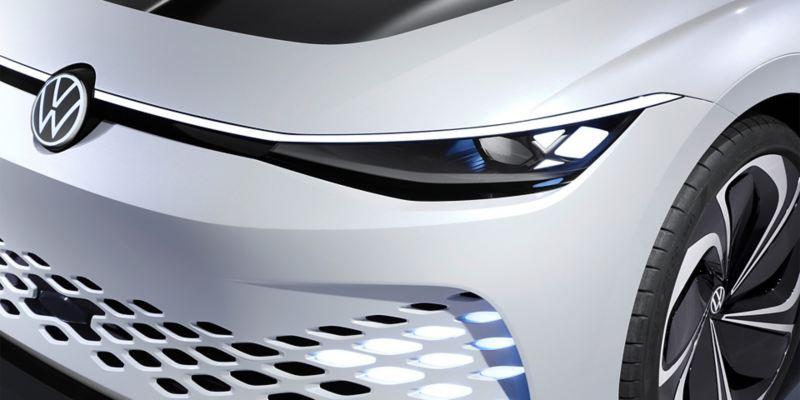 El  ID. SPACE VIZZION de Volkswagen desde l aparte delantera