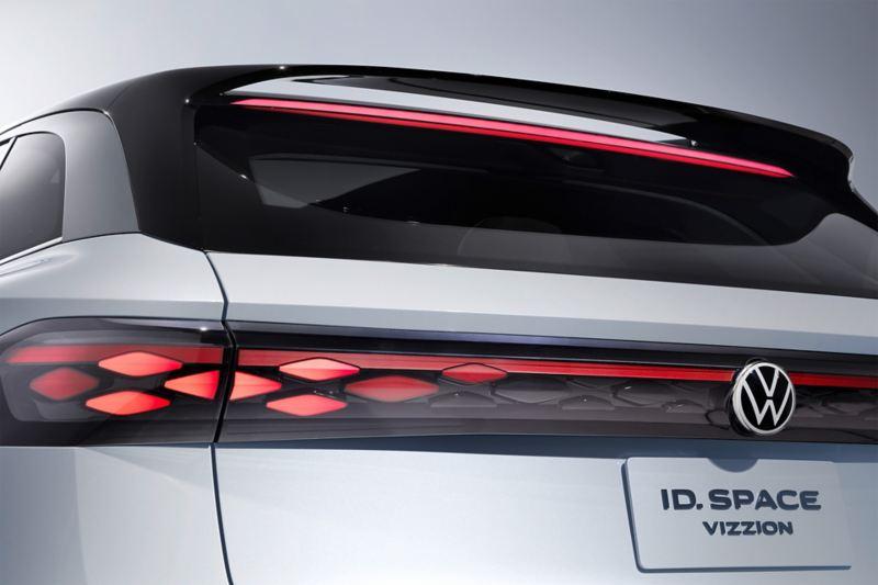 Das Heck des Volkswagen ID. SPACE VIZZION