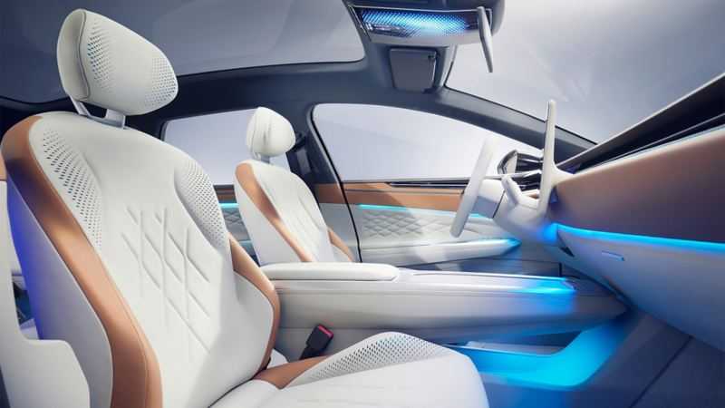 O interior do Volkswagen ID. SPACE VIZZION