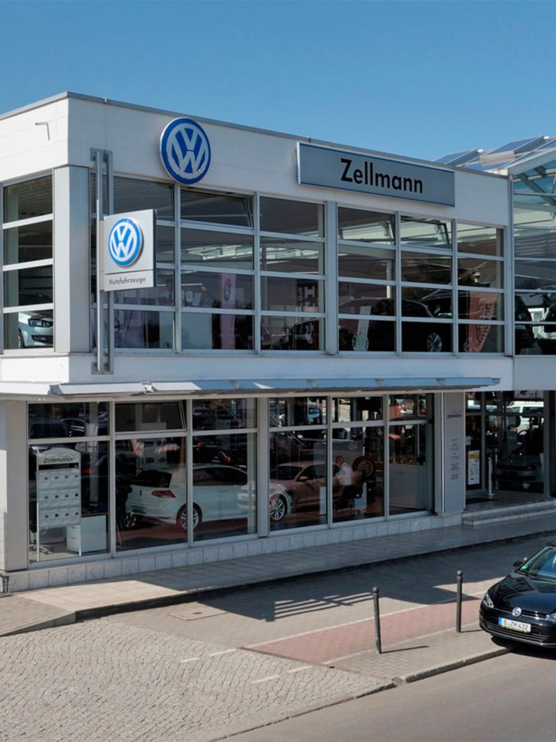 Picture of a Volkswagen dealership