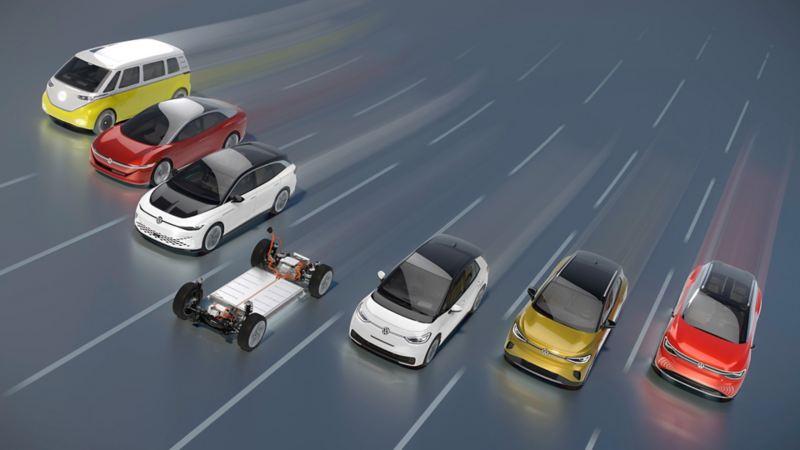 Prototipi di Volkswagen elettrica